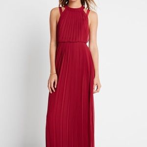 BCBG BCBGENERATION hi-neck pleated Dress
